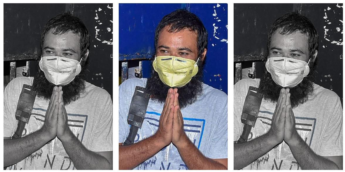 متھرا جیل سے رہا ہونے کے بعد ڈاکٹر کفیل خان۔ (فوٹو: پی ٹی آئی)