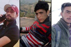 راجوری کے تین نوجوان مزدور جو جولائی میں شوپیاں میں لاپتہ ہو گئے تھے۔ (فوٹو بہ شکریہ: ٹوئٹر)