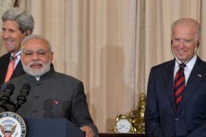 وزیر اعظم نریندر مودی کے ساتھ امریکہ کے نومنتخب صدر جو بائیڈن۔ (فائل فوٹو: امریکی محکمہ خارجہ)