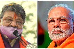 بی جے پی جنرل سکریٹری کیلاش وجئے ورگیہ اور وزیراعظم نریندر مودی۔ (فوٹو: پی ٹی آئی)