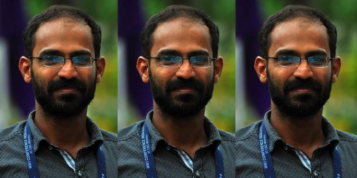 کیرل کے صحافی صدیقی کپن۔ (فوٹو بی شکریہ: ٹوئٹر/@vssanakan)