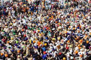 بھارتیہ کسان یونین (بی کے یو)کی قیادت میں کسانوں کا غازی پور بارڈر پرمظاہرہ(فوٹو: پی ٹی آئی)
