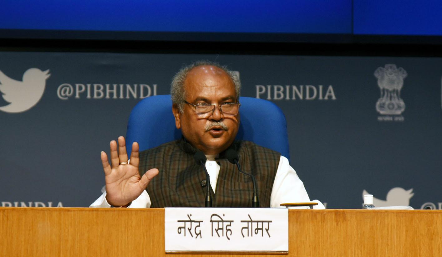 وزیر زراعت نریندر سنگھ تومر۔ (فوٹوبہ شکریہ: پی آئی بی)