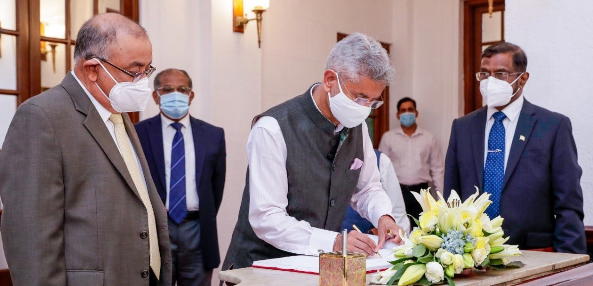 Indian external affairs minister Dr S. Jaishankar and President Gotabaya Rajapaksa in Colombo on January 6, 2021. Photo: Twitter/@GotabayaR
