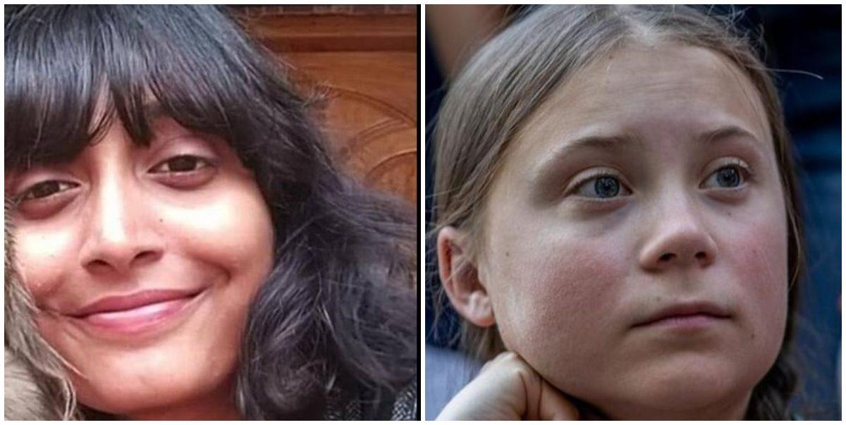 دشا روی اور گریتا تُنبیر۔ (فوٹوبہ شکریہ: فیس بک/رائٹرس)