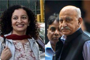 پریہ رمانی اور ایم جے اکبر۔ (فوٹو:پی ٹی آئی)