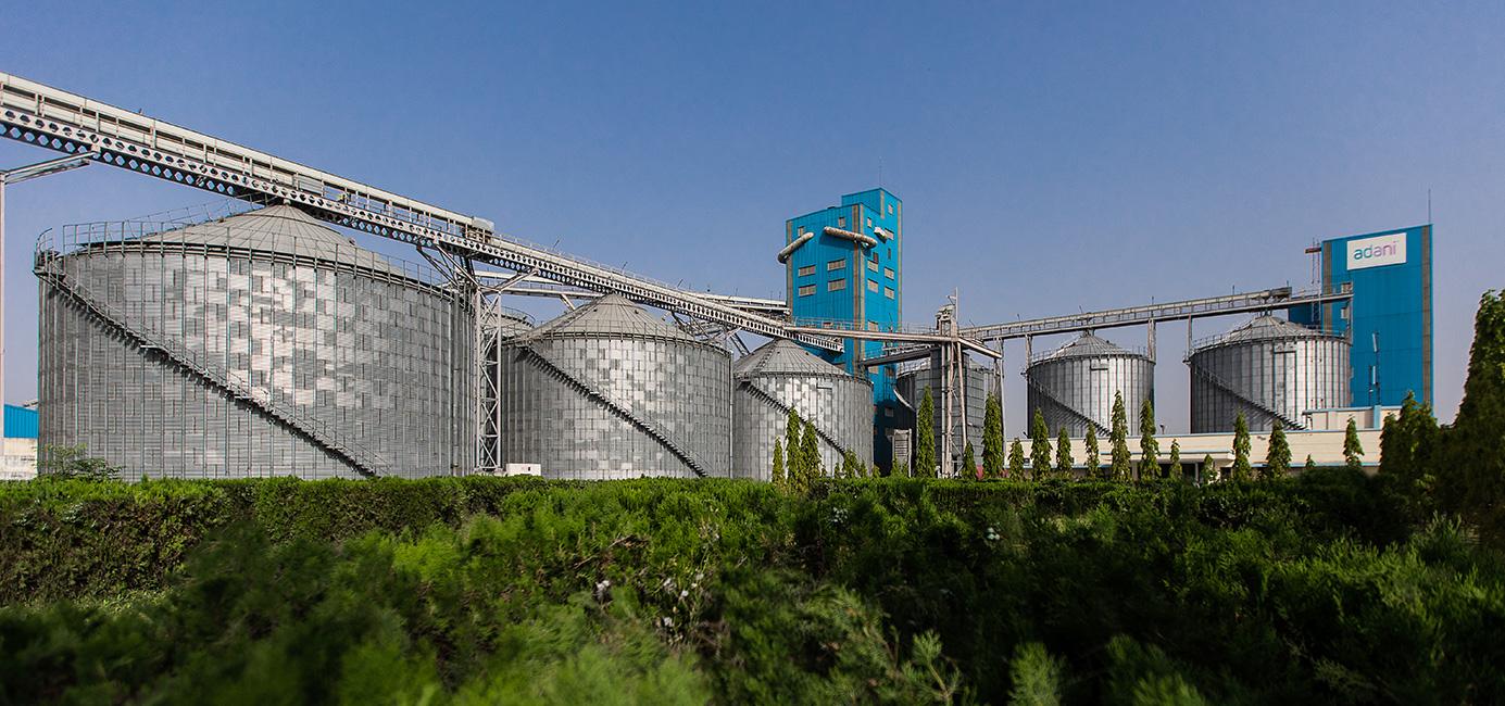 اڈانی سائلو۔ (فوٹوبہ شکریہ: Adani Agri Logistics Limited)