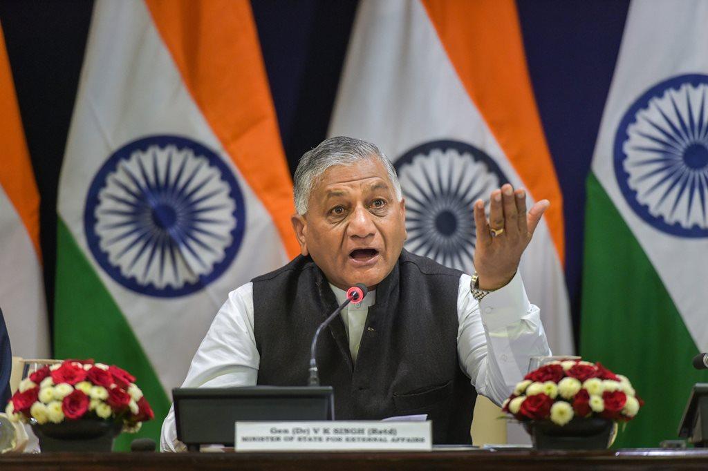 مرکزی وزیر وی کے سنگھ۔ (فائل فوٹو: پی ٹی آئی)