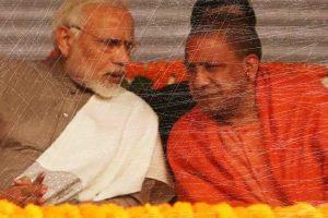 File photo of Narendra Modi and Yogi Adityanath. Photo: PTI