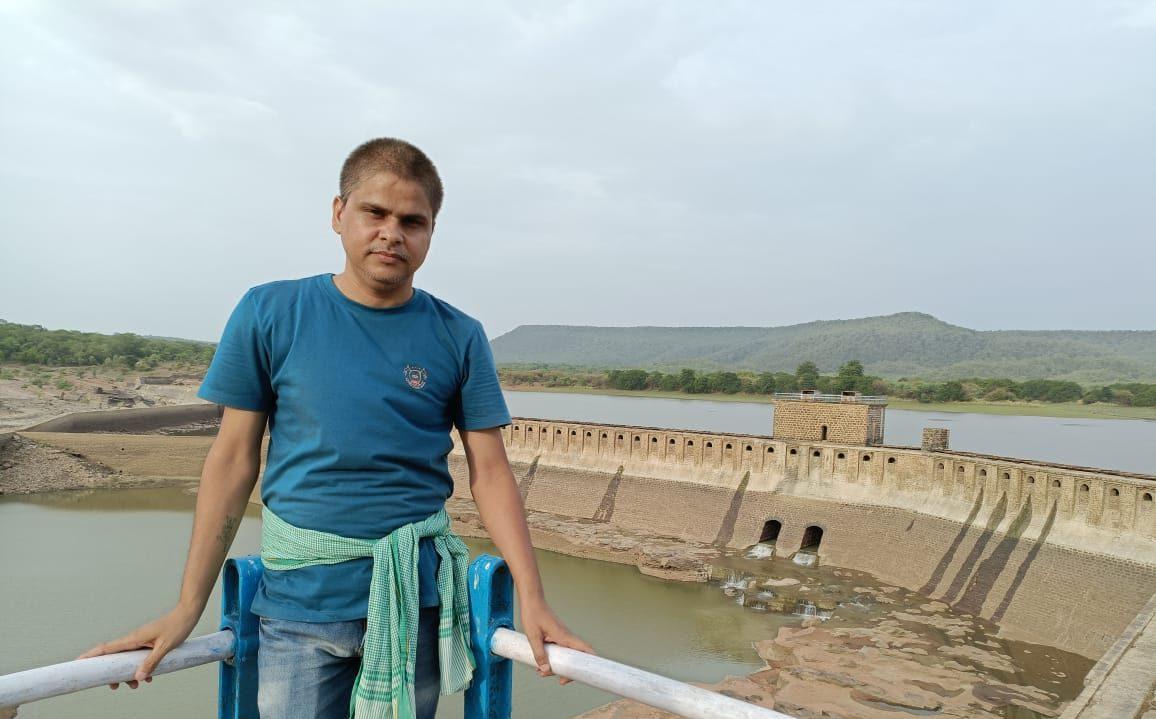 صحافی آشیش ساگر۔ (فوٹو: دھیرج مشرا)