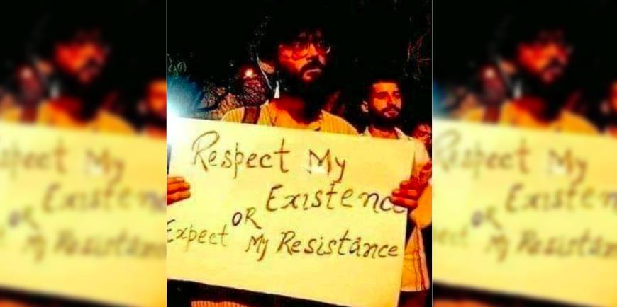 جیل جانے سے پہلے شرجیل امام ایک احتجاج کے دوران، فوٹو بہ شکریہ: ٹوئٹر