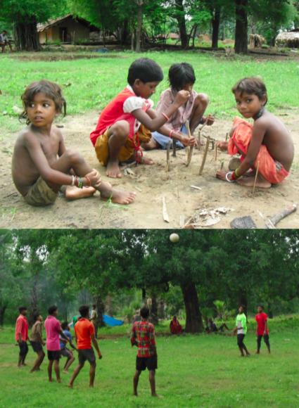 کھیلتے ہوئے بچے۔ (فوٹو: نندنی سندر)