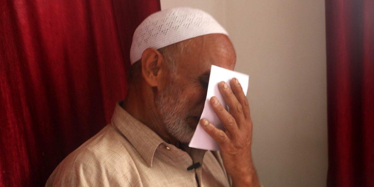 عمران قیوم کے والد۔ (فوٹو: منیب الاسلام)