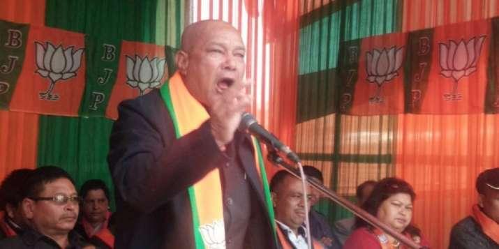میگھالیہ میں بی جے پی کےوزیر سنبور شولئی۔ (فوٹو: ٹوئٹر/ @PRAMODJ406)