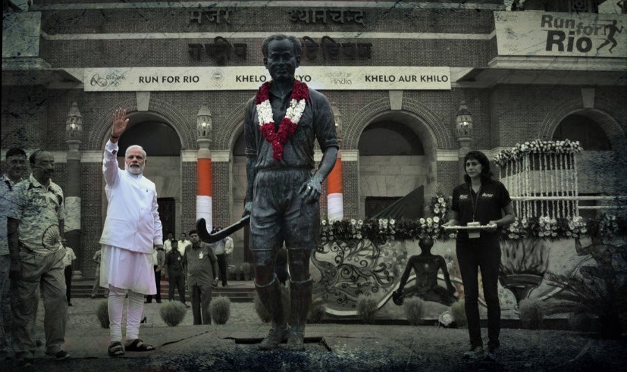 دہلی کے دھیان چند نیشنل اسٹیڈیم میں وزیر اعظم نریندر مودی۔ (فائل فوٹو بہ شکریہ: پی آئی بی)