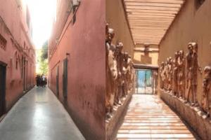 جلیانوالہ باغ کی طرف جانے والی تنگ راہداری کی پرانی تصویر(بائیں)اورجدیدکاری کے بعد کی تصویر(دائیں) (فوٹو بہ شکریہ ٹوئٹر)