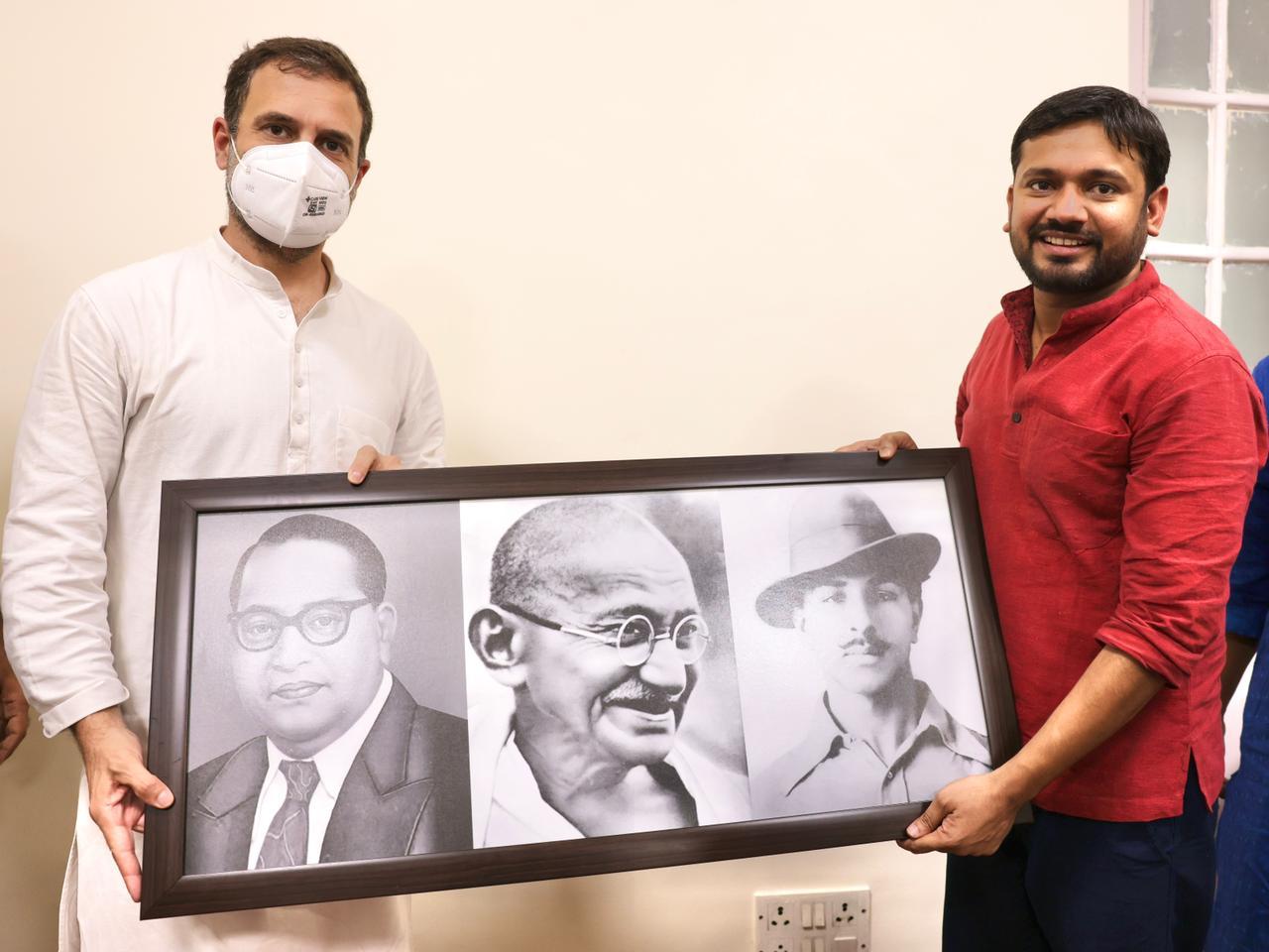 راہل گاندھی کے ساتھ کنہیا کمار۔ (فوٹو بہ شکریہ: ٹوئٹر/@INCIndia)