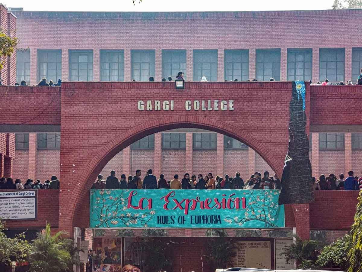 دہلی یونیورسٹی کا گارگی کالج۔ (فوٹو: پی ٹی آئی)